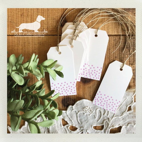 DOLLAR DEAL! Purple Confetti. Gift Tags (Set of 10)