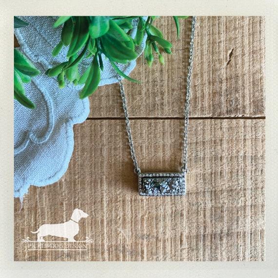 Silver Druzy. Necklace