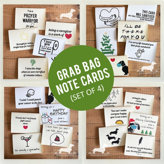 DOLLAR DEAL! Grab Bag. Note Cards (Set of 4)