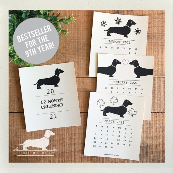 Doxie Love. 2021 Desktop Calendar