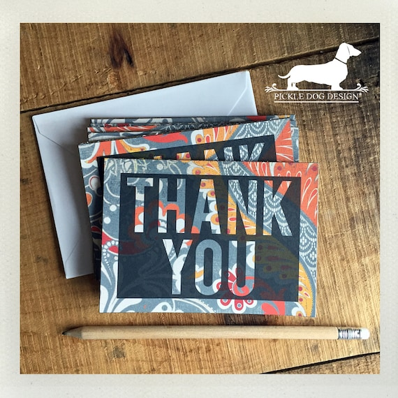 Thank You. Note Cards (Set of 5)