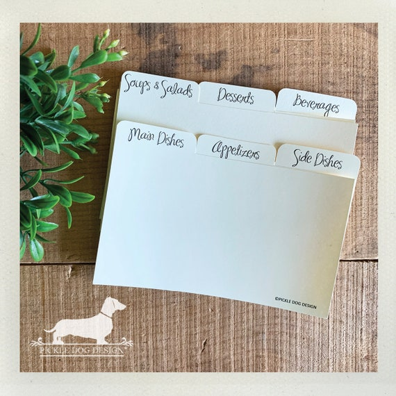DOLLAR DEAL! 3x5 Recipe Divider Cards