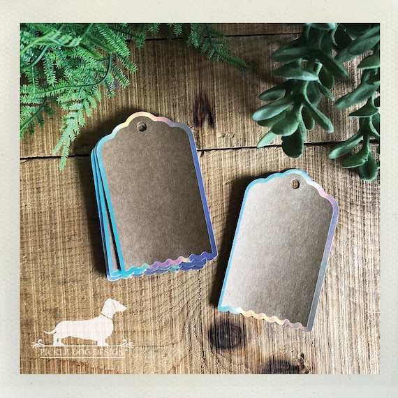 DOLLAR DEAL! Iridescent Kraft. Gift Tags