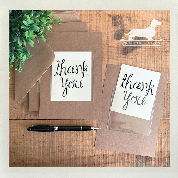 DOLLAR DEAL! Little Thank You. Flat Cards (Set of 4)