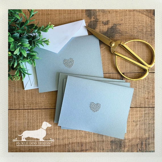 DOLLAR DEAL! Bling Love. Gray Note Cards (Set of 4)
