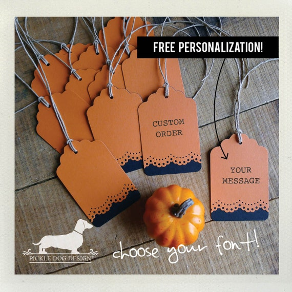 Trick or Treat. Personalized Gift Tags (Set of 12)