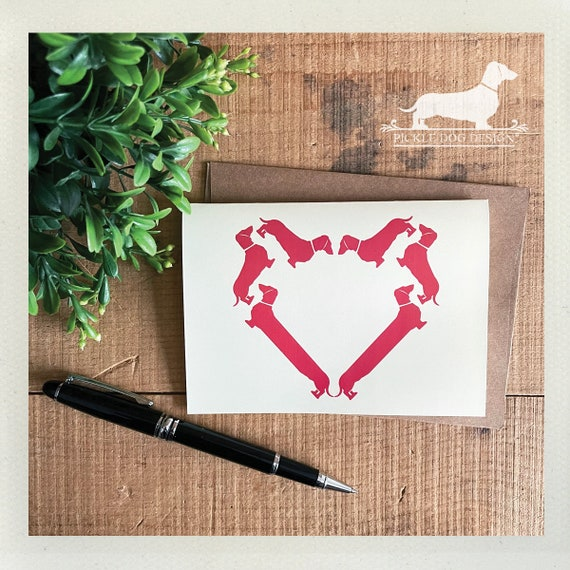 Doxie Heart. Note Card