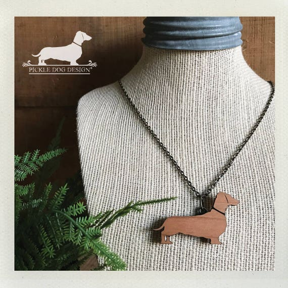 Doxie. Wood Necklace
