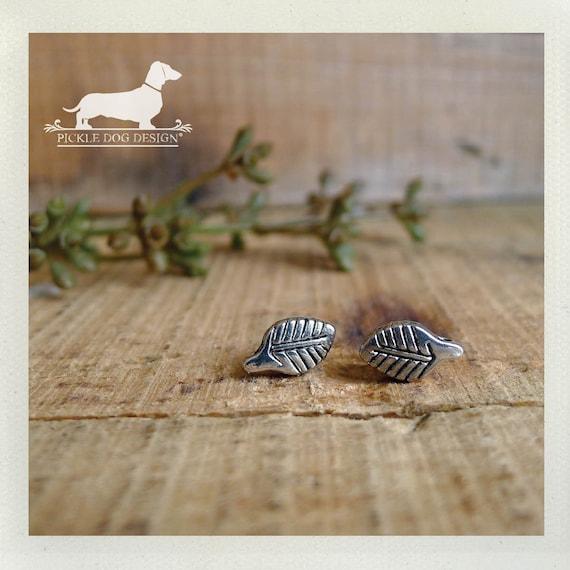 Lil Leaf. Post Earrings