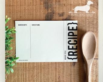 Traditional Kraft. A Baker's Dozen (Qty 13) Set of 4x6 Recipe Cards -- (Modern, Gift for Guys, Simple, Wedding, Bridal Shower Favor, Gift)