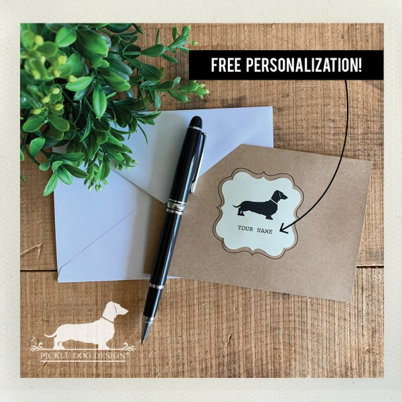 Doxie. Personalized Note Cards (Set of 8)