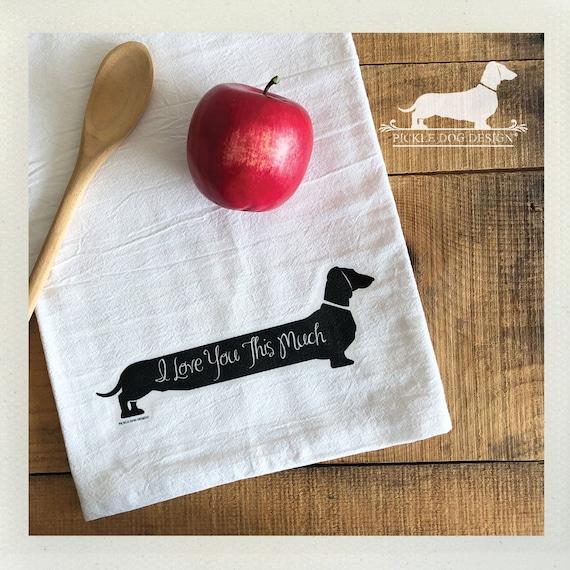 Long Doxie Love. Tea Towel