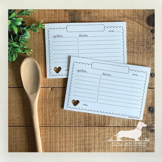 Vintage Love. A Baker's Dozen (Qty 13) Set of Recipe Cards