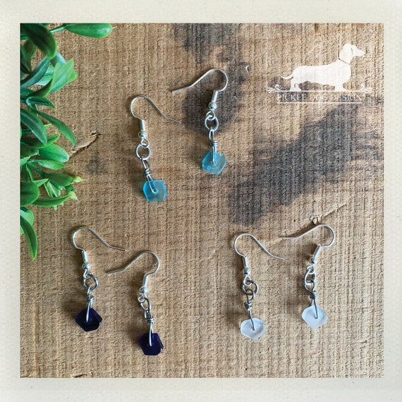 Sea Glass. Dangle Earrings