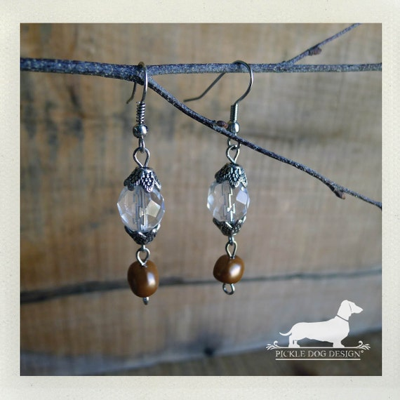 Crystal Drops. Dangle Earrings