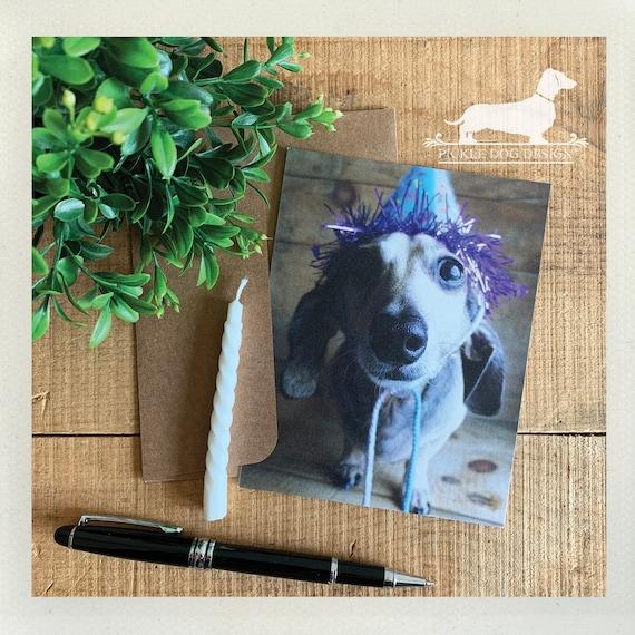 Birthday Doxie. Flat Card