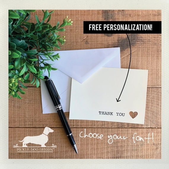 Love Note. Personalized Flat Card