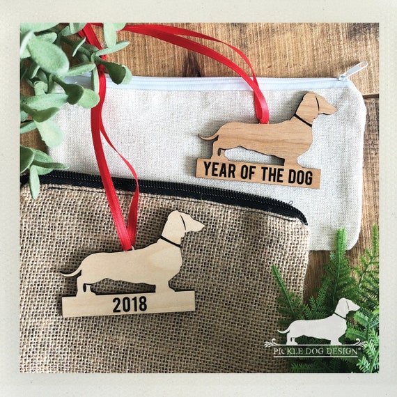 Year of the Dog. 2018 Wood Ornament