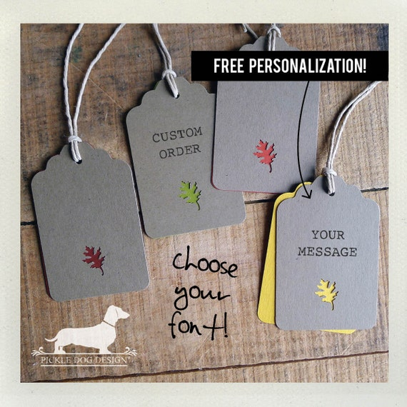 Autumn Spice. Personalized Gift Tags (Set of 12)