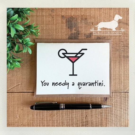 Quarantini. Note Card