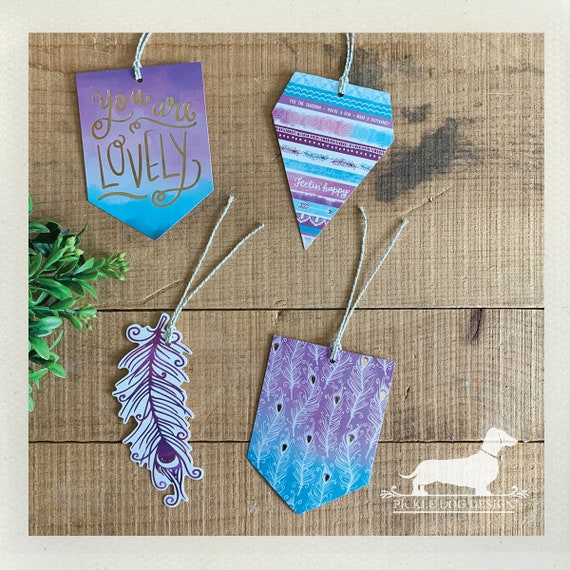 DOLLAR DEAL! Lovely Feather. Gift Tags (Set of 8)