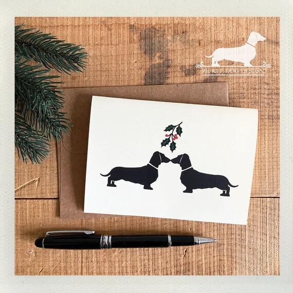 Mistletoe Doxie. Note Card