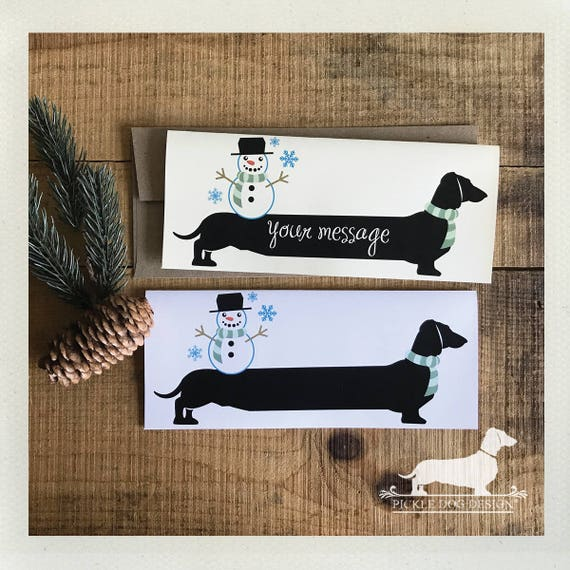 Winter Doxie. Note Card