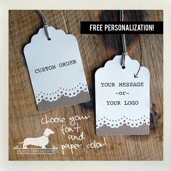 Lacey Double. Personalized Gift Tags (Set of 12)