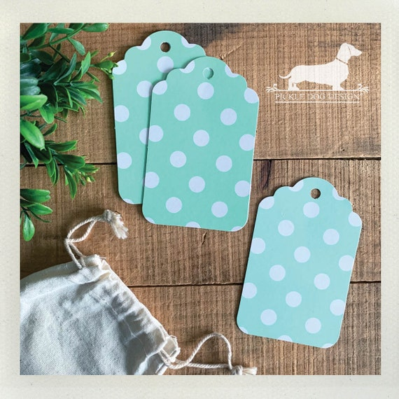 DOLLAR DEAL! Mint Polka Dot. Gift Tags