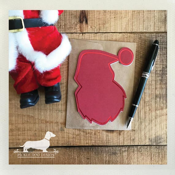 DOLLAR DEAL! Here Comes Santa. Note Cards (Set of 4)