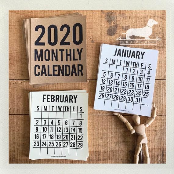 2020. Desktop Calendar