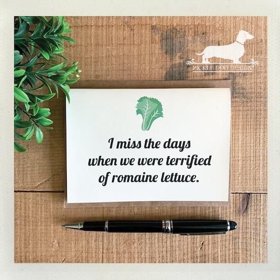 Romaine Lettuce. Note Card