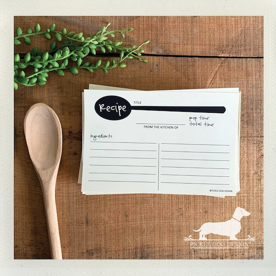 A Spoonful of Sugar. A Baker's Dozen (Qty 13) Set of Recipe Cards