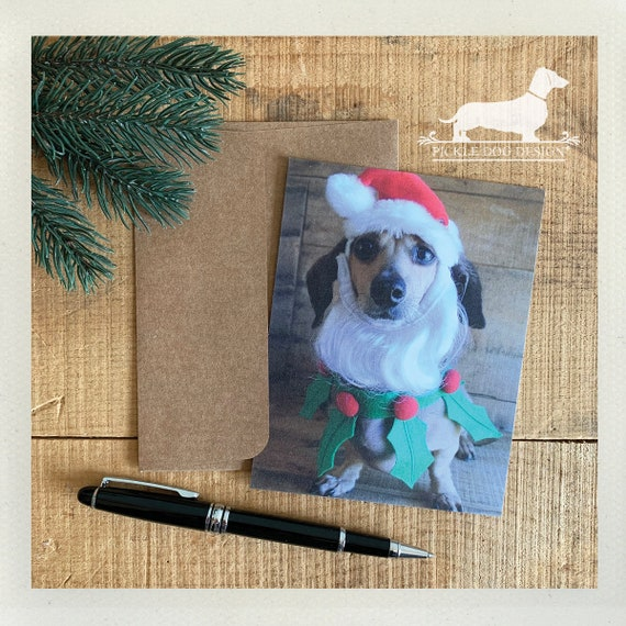Santa Doxie. Flat Card