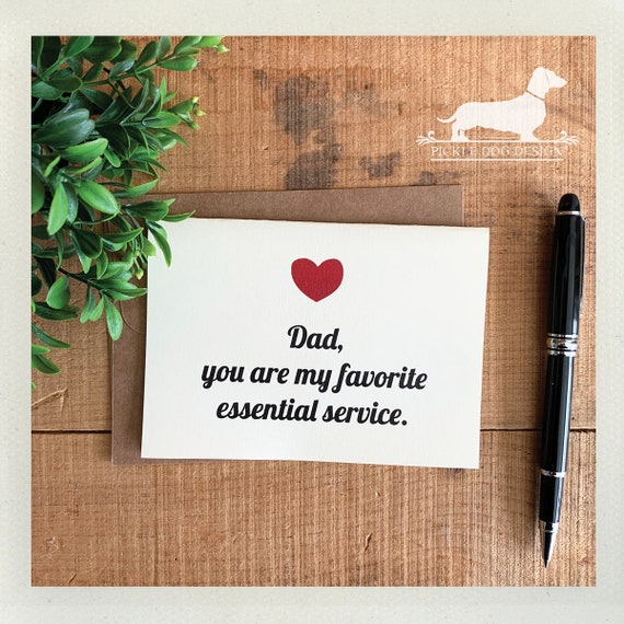 Dad, You're My Favorite. Note Card