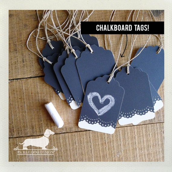 Lacey. Reusable Chalkboard Gift Tags (Set of 12)