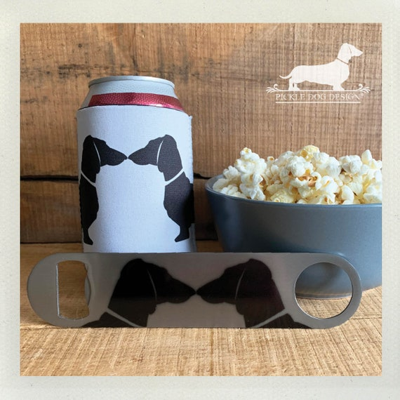 Doxie Love. Can Cooler & Bottle Opener