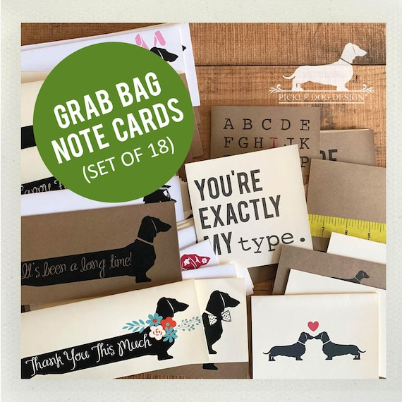DOLLAR DEAL! Grab Bag. 18 Note Cards
