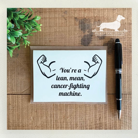 Cancer Fighting Machine. Note Card