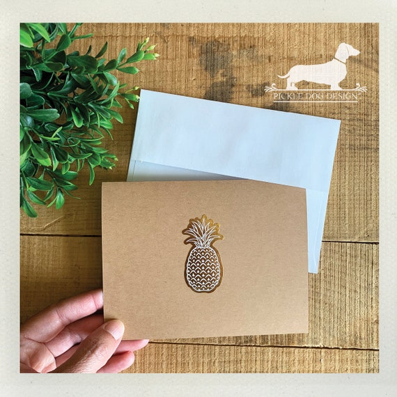 DOLLAR DEAL! Pineapple. Note Cards (Set of 4)