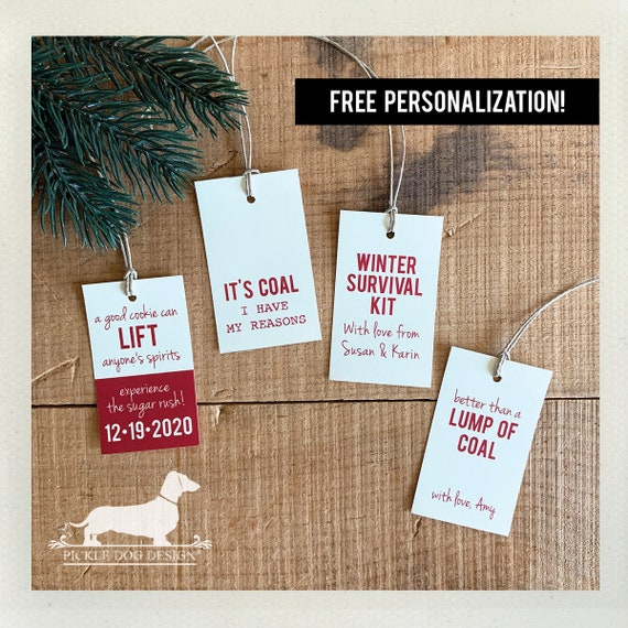 Personalized Holiday Gift Tags (Set of 20)