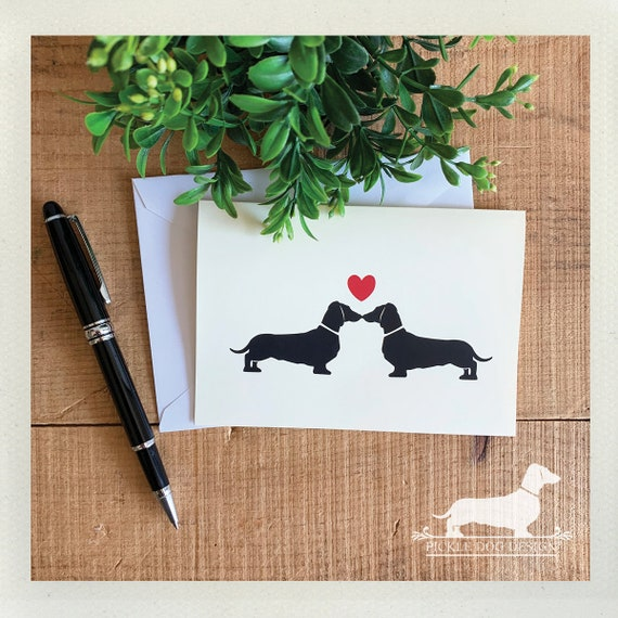 Doxie Love. Note Card