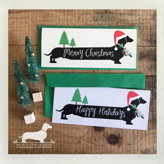 Merry Christmas Doxie. Note Card