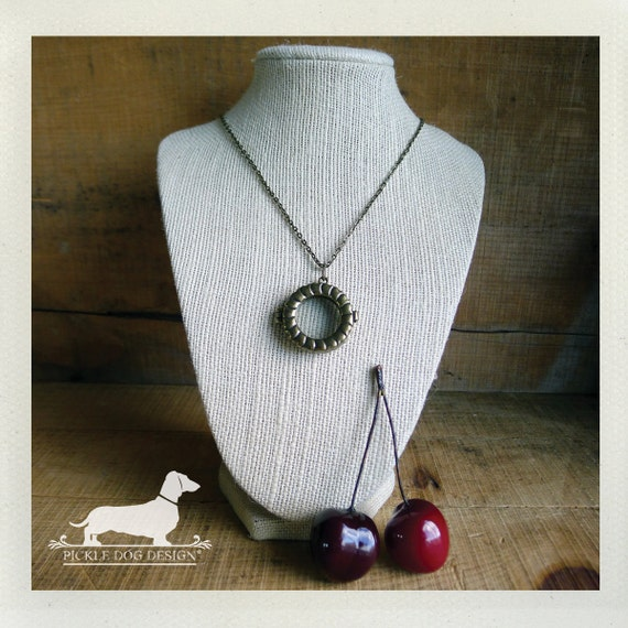 Cherry Pie. Locket Necklace