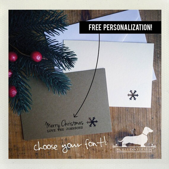 Snowflake. Personalized Flat Cards (Set of 8)