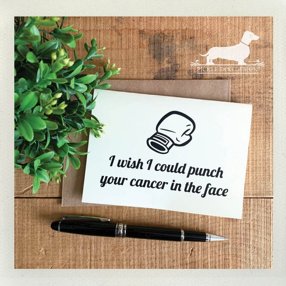 Punch Cancer in The Face. Note Card