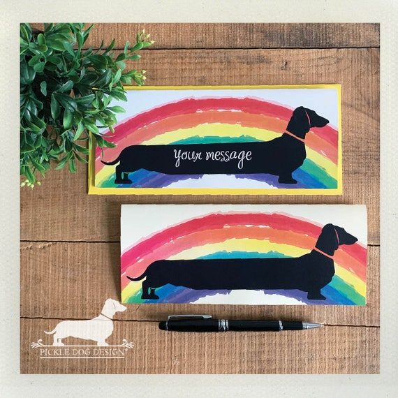 Rainbow Doxie. Note Card
