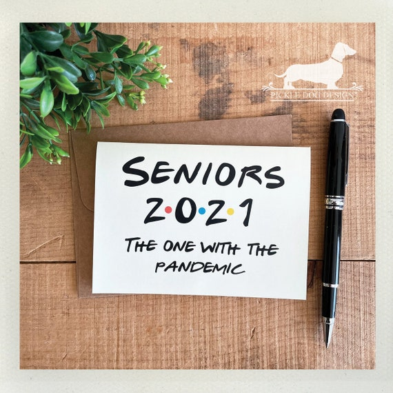 Seniors 2021. Note Card