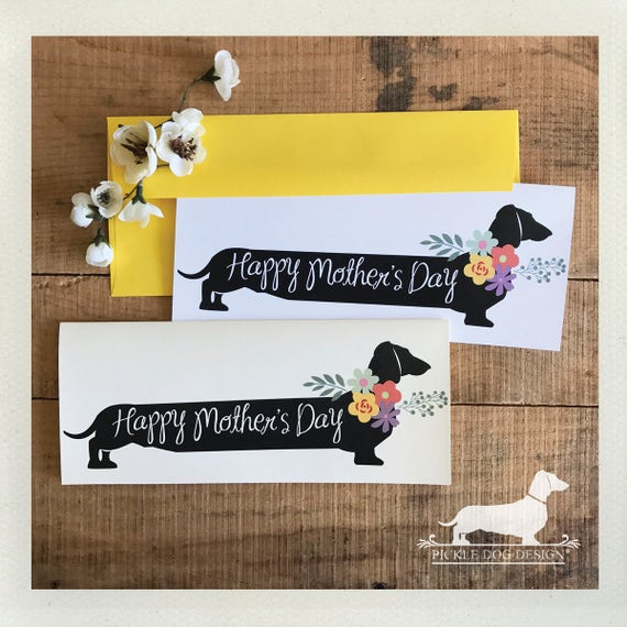 Long Doxie Mom. Note Card