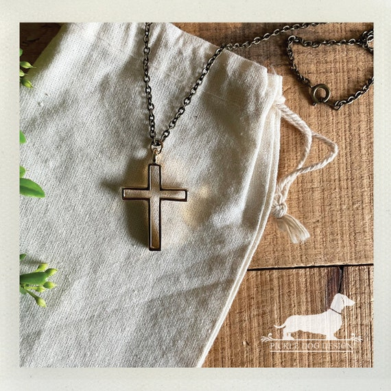Gold Cross. Necklace